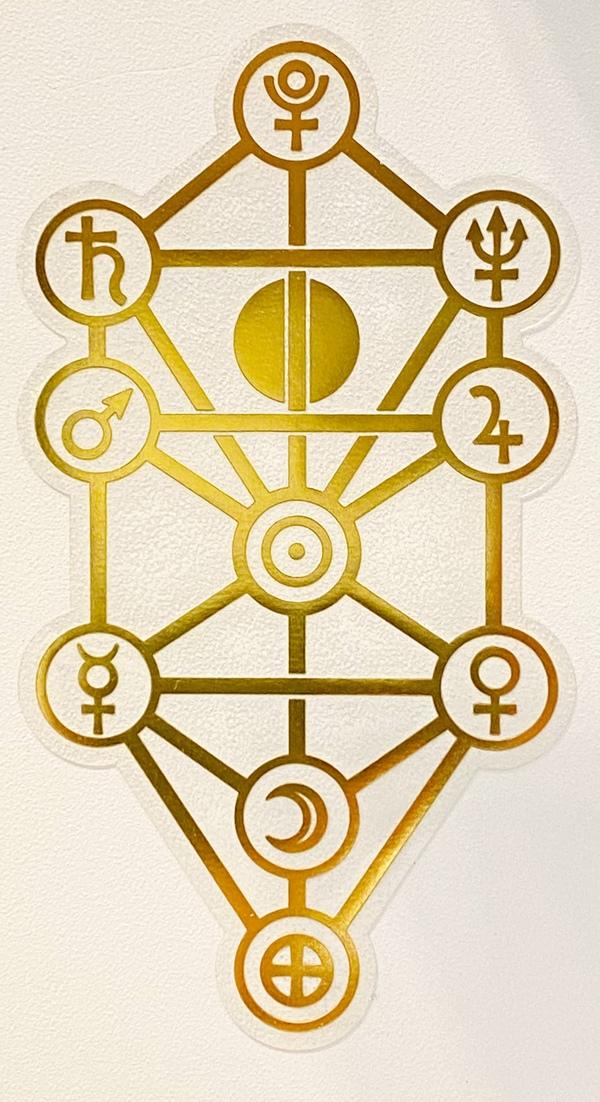 生命の樹 セフィロトの樹 カバラ パワーシール パワープレート 幾何学模様